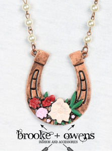 Rodeo Sweetheart Horseshoe Necklace