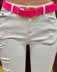 Designer Inspired Belt, Hot Pink