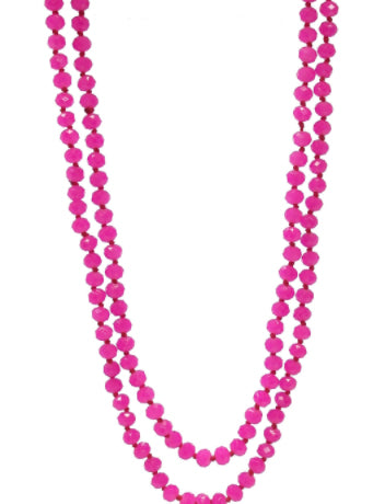 Infinity Necklace, Magenta