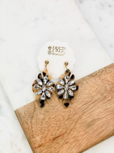 Jewel Tortoise Dangle Earrings
