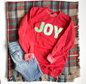 Joy Sweatshirt, Red