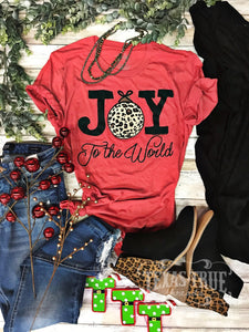Joy To The World T-Shirt, Red