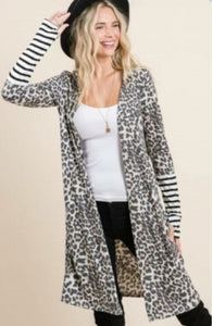 Leopard and Stripe Cardigan