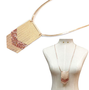 Layered Leather Necklace Set