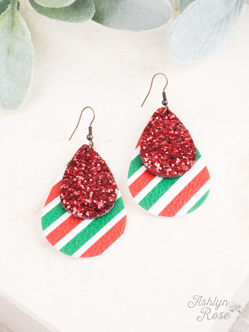 Prettiest Present Christmas Earrings