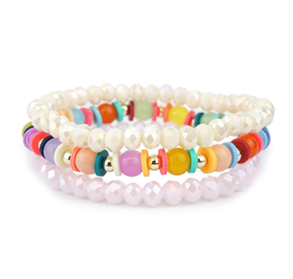 Colorful Pastel Bracelet Set