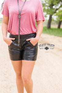 Sassy Side Shorts, Black