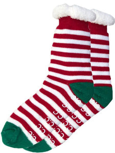 Sherpa Socks, Candy Cane Stripe
