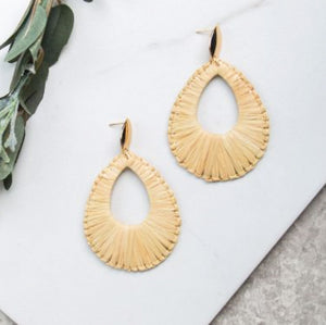 Springtime Statement Earrings, Natural