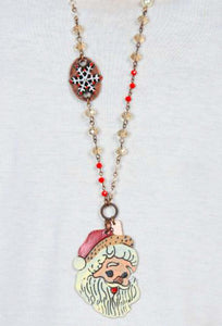 Santa Claus Necklace, Copper