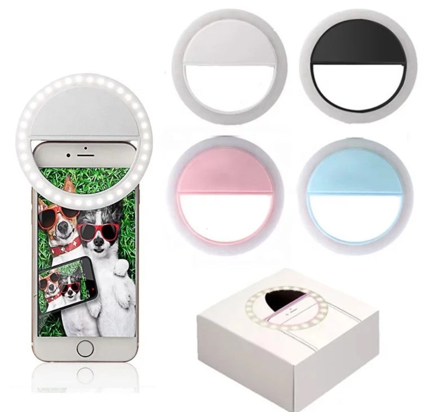 Rechargeable Selfie Ring Light, Blue