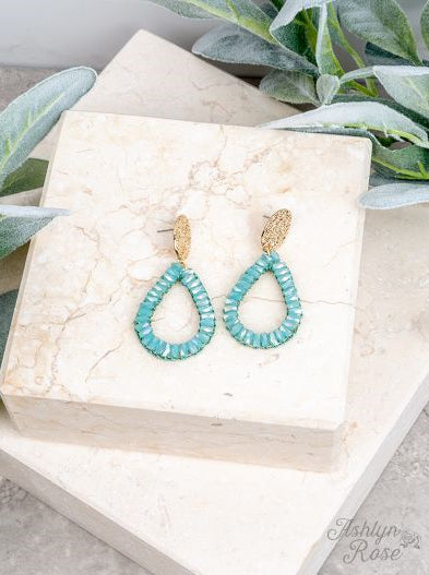 So In Style Drop Earrings, Mint
