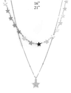 Star Necklace, Silver