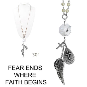 Fear Ends Where Faith Begins Necklace