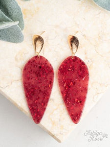 Drop of Perfection Earrings, Scarlet Sparkle