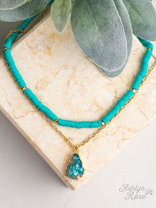 All Summer Long Necklace, Turquoise