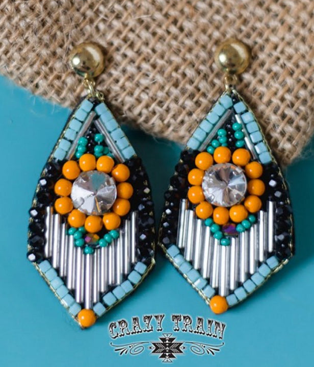 Art Deco Earrings, Multi