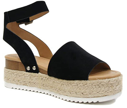 Black Topic Sandals