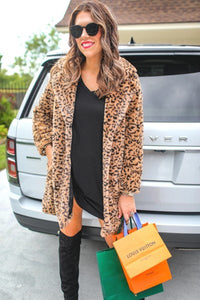 Faux Fur Coat, Brown