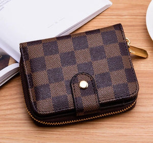 Checkered Wallet, Brown