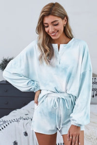 Lounge Wear Set, Blue Tie Dye