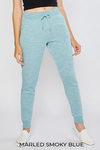 Fleece Drawstring Joggers,  Blue