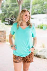 Butter Basic Top, Turquoise