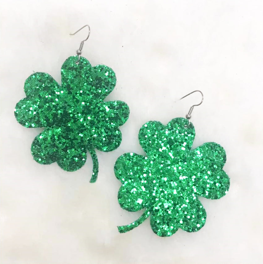 Shamrock Earrings, Large