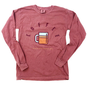 Coffee Crack T-Shirt, Hthr Maroon