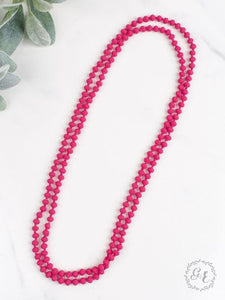 Infinity Necklace, Matte Pink