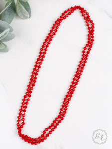 Infinity Necklace, True Red