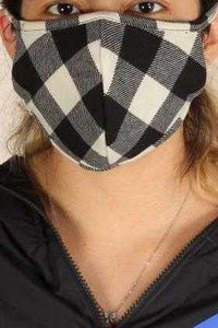 Mask, Black and White Plaid