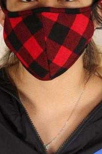Mask, Red and Black Plaid