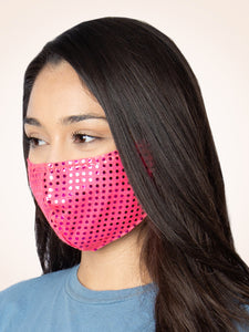 Shimmer Face Mask, Neon Pink