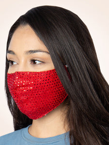 Shimmer Face Mask, Red