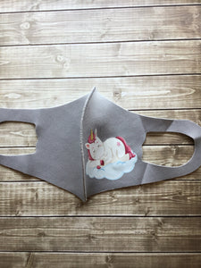 Kids Mask, Grey Unicorn
