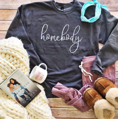 PRE-ORDER Homebody Sweatshirt, Heather Charcoal