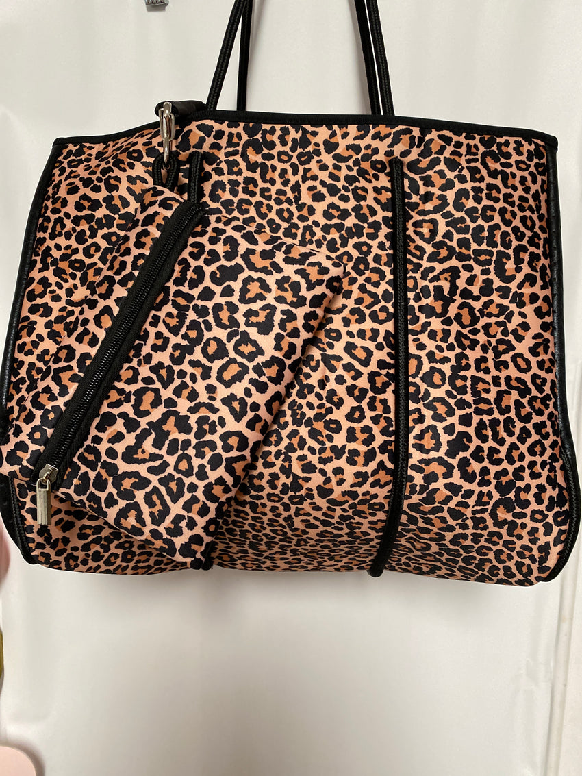 Neoprene Leopard Purse