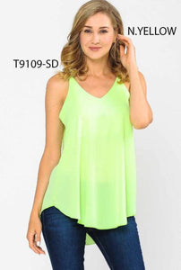 Sleeveless Top, Lime Green