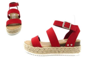 Red Topic Sandals