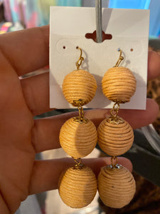 Peach Ball Earrings