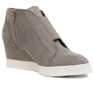 Platform Wedge Sneaker, Gray