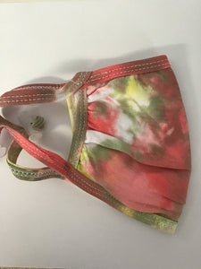 Tie Dye Mask, Red/Green/Yellow