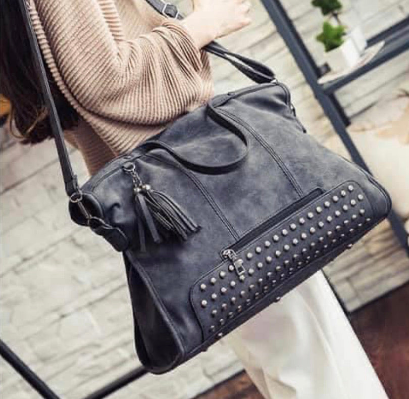 Large Grey Purse
