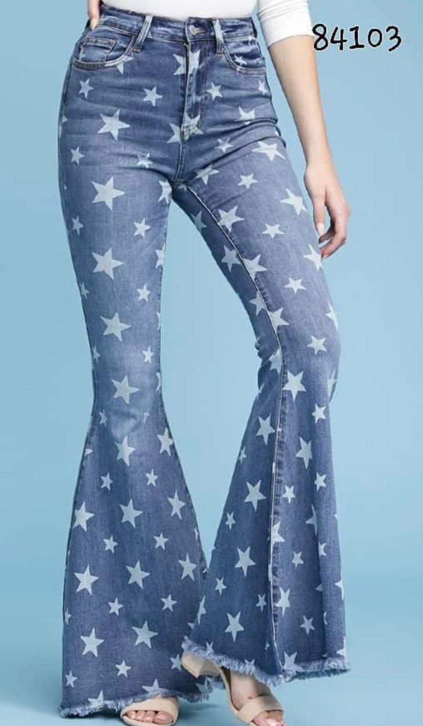 Judy Blue Star Flare Jeans