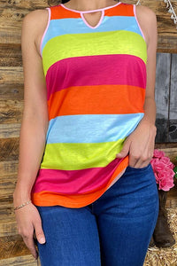 Colorful Striped Tank