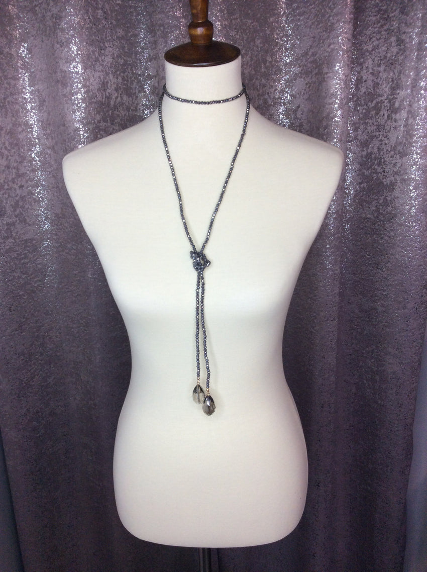 3-in-1 Necklace, Charcoal
