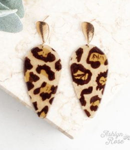 Drop of Perfection Earrings, Leopard