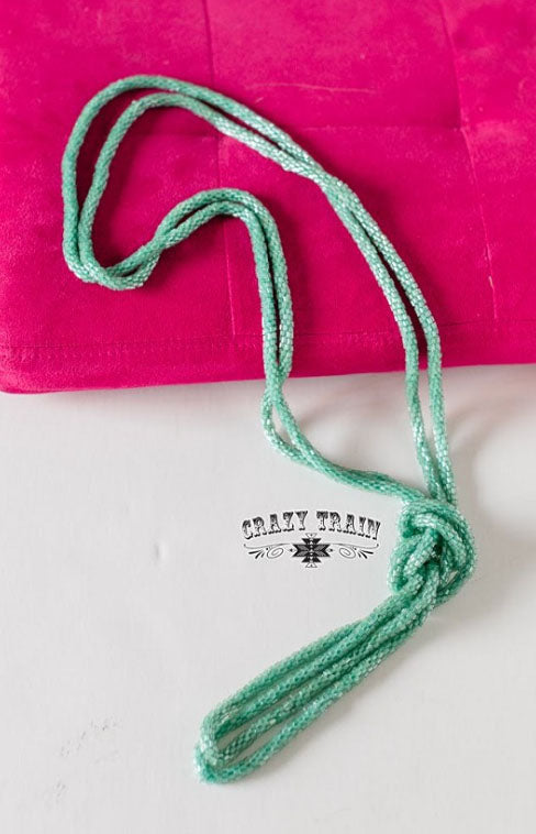 Loopty Loo Necklace, Mint