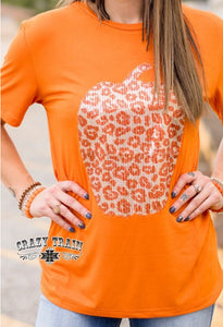 Sequin Pumpkin Top